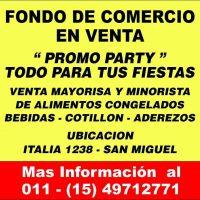 FONDO DE COMERCIO EN VENTA